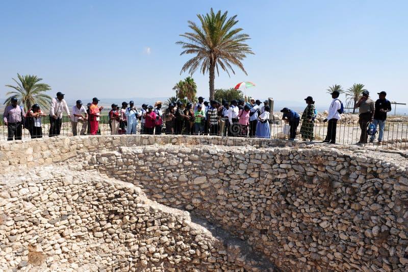 Telefon Megiddo - Israel arkivfoto