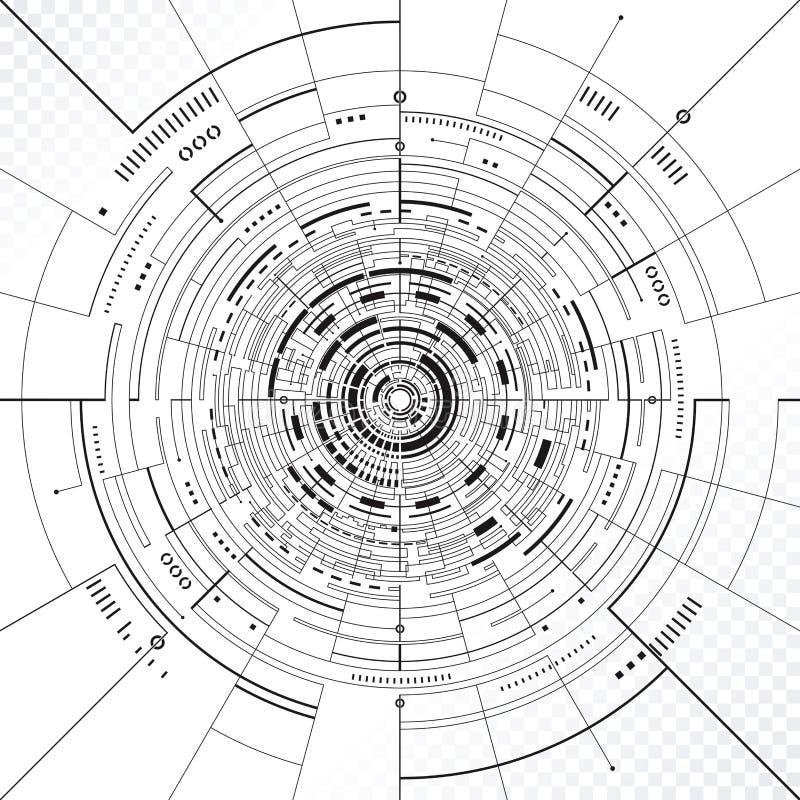 Telefon mit Planetenerde und binärem Code vektor abbildung