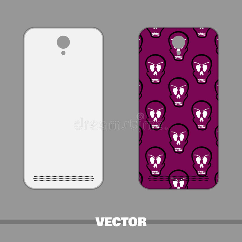 Telefon Okładkowe czaszki obraz stock