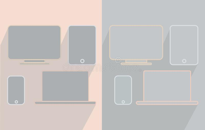 Telefon pastylki monitor i laptop zdjęcia royalty free