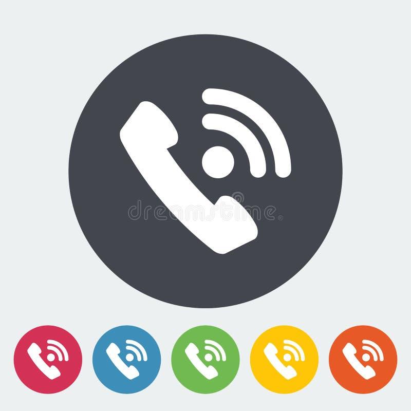Telefon pojedyncza płaska ikona royalty ilustracja