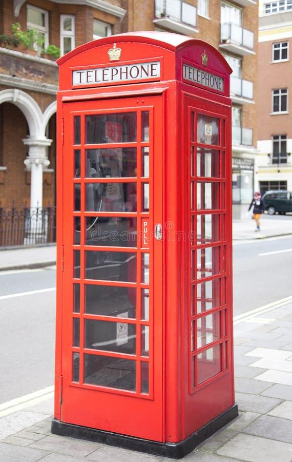 telefon pudełkowata czerwień zdjęcie stock