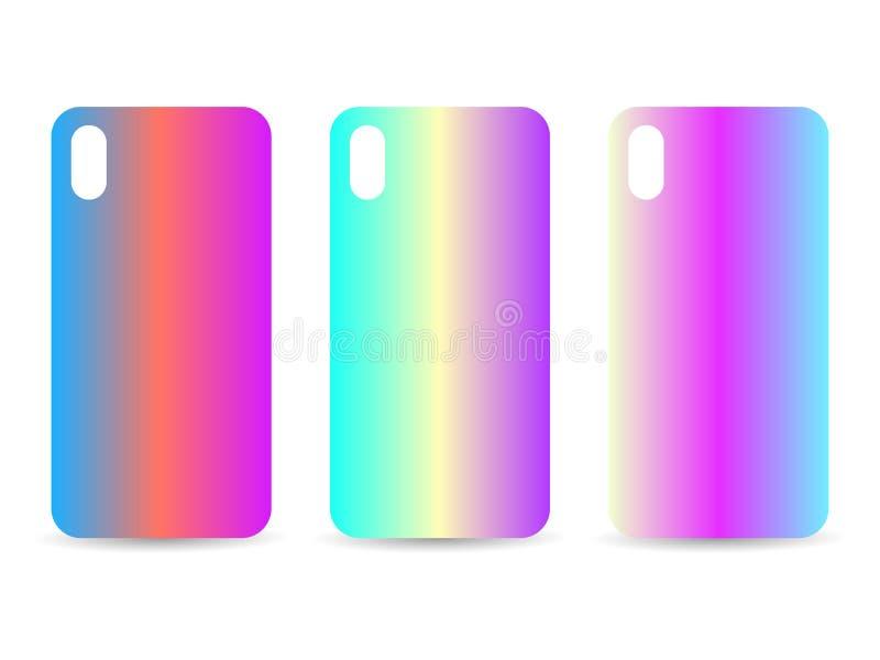 Telefon skrzynka ustawiająca z gradientowymi tło Zamazani cienie wektor ilustracji
