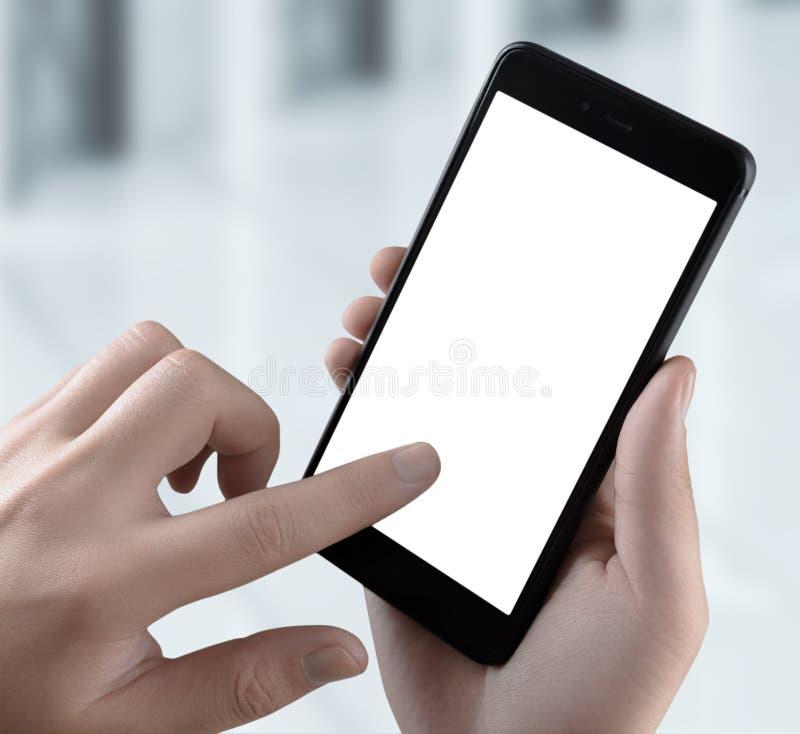 Telefon-Smarthone lokalisiertes Schirm-Geschäfts-Technologie-Konzept Beschneidungspfad eingeschlossen für einfache Auswahl lizenzfreies stockfoto