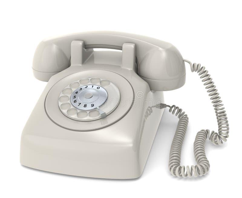Telefon som är retro. vektor illustrationer