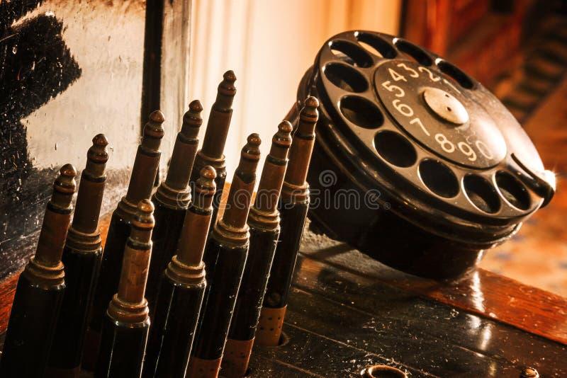 Telefon stary obraz stock