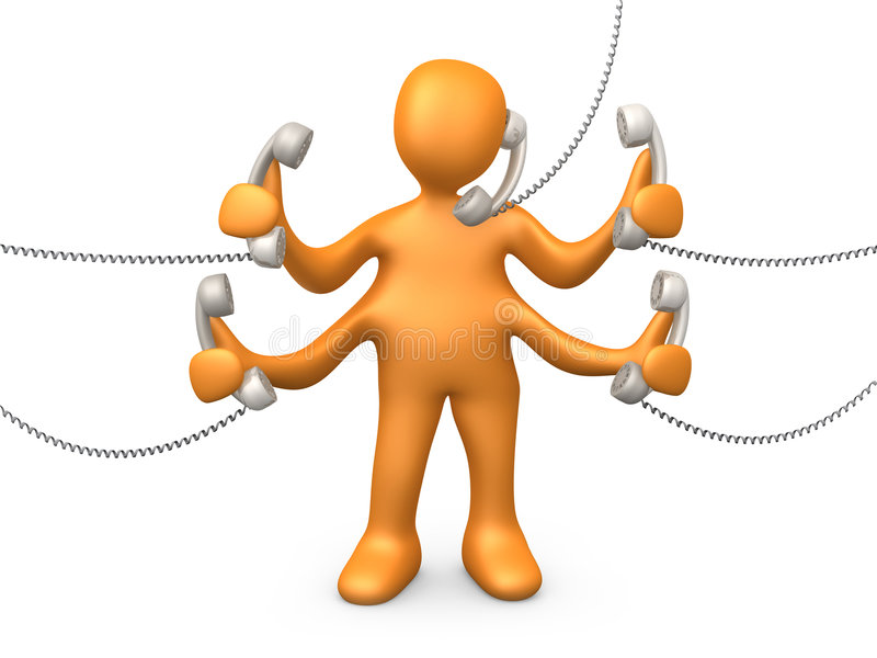 Telefon-Support stock abbildung