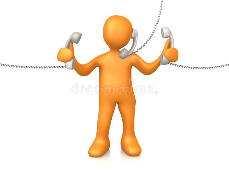 Telefon-Support lizenzfreie abbildung