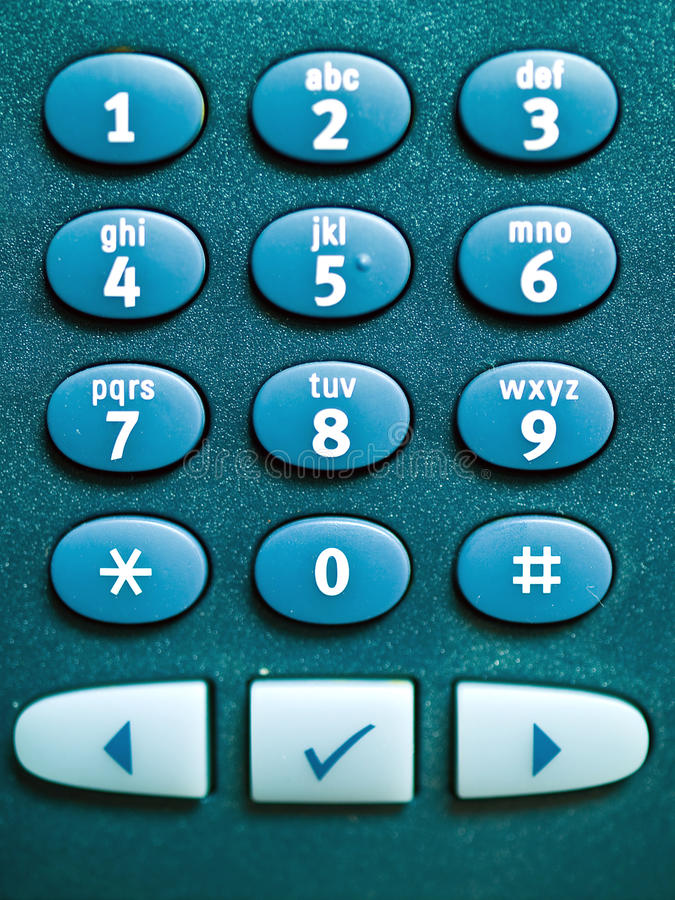 Telefon-Tastaturblock-Makro lizenzfreie stockfotos