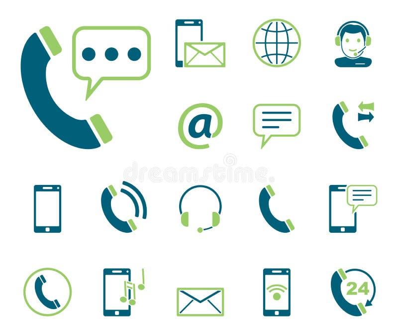 Telefon u. Kommunikation - Iconset - Ikonen vektor abbildung