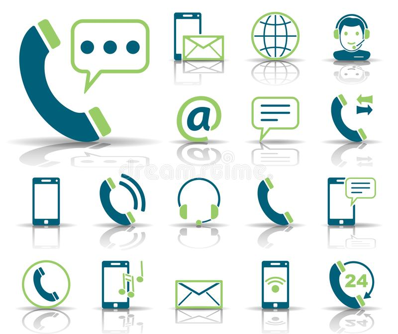 Telefon u. Kommunikation - Iconset - Ikonen stock abbildung