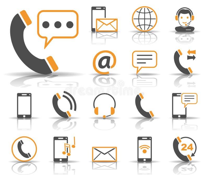 Telefon u. Kommunikation - Iconset - Ikonen lizenzfreie abbildung