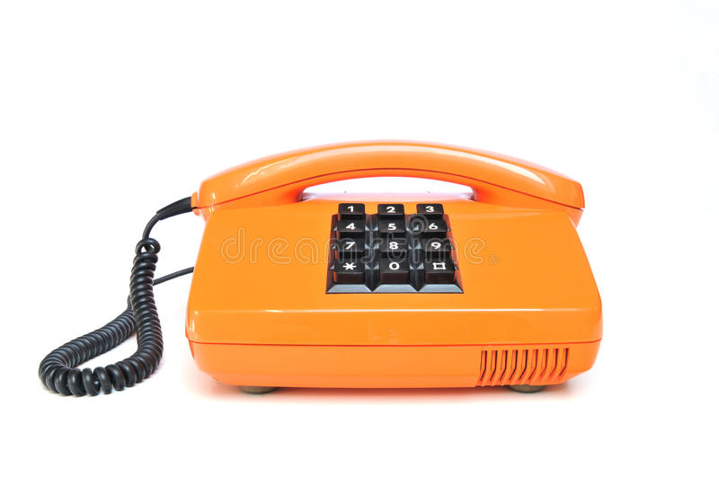 Telefon von den achtziger Jahren lizenzfreie stockbilder