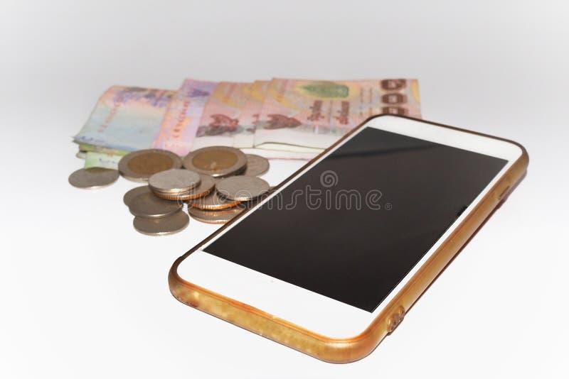 Telefon w białym tle fotografia royalty free