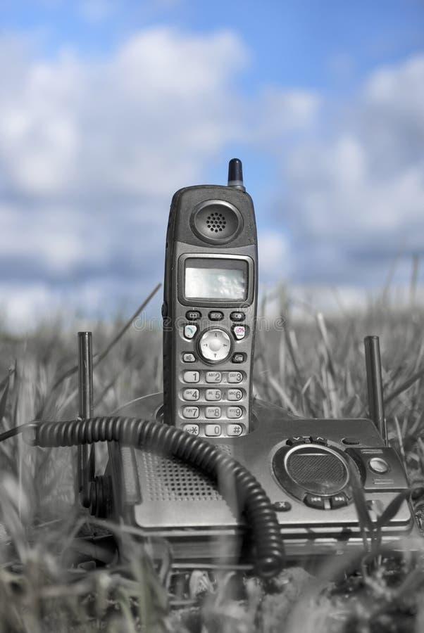 Telefon W Fied zdjęcie royalty free