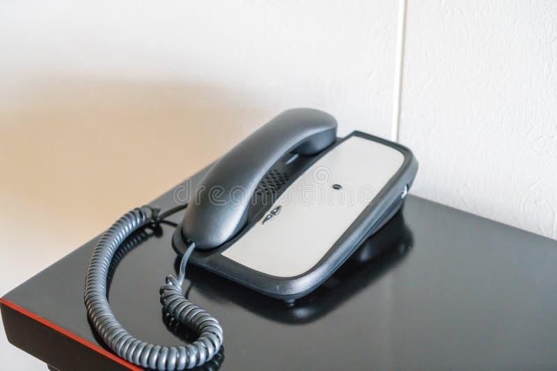 Telefon w pokoju hotelowym obraz royalty free