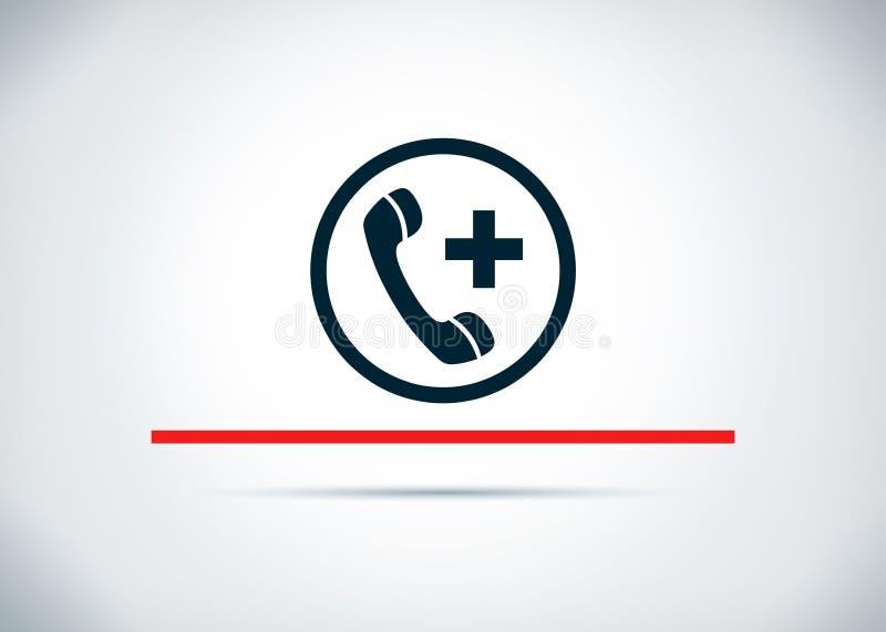 Telefon w sprawie nagłego wypadku ikony tła projekta abstrakcjonistyczna płaska ilustracja ilustracja wektor