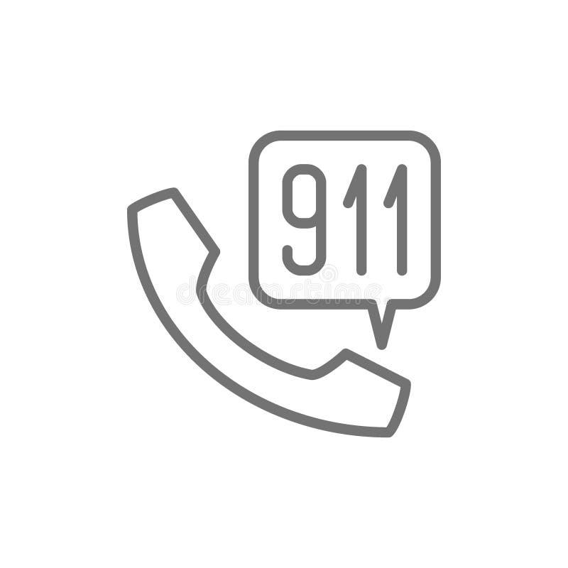 Telefon w sprawie nagłego wypadku ratownicza usługowej linii ikona royalty ilustracja