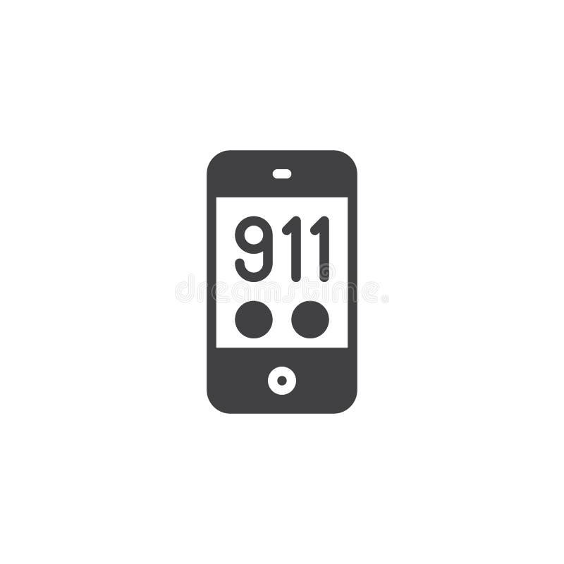 911 telefon w sprawie nagłego wypadku wektoru ikona royalty ilustracja
