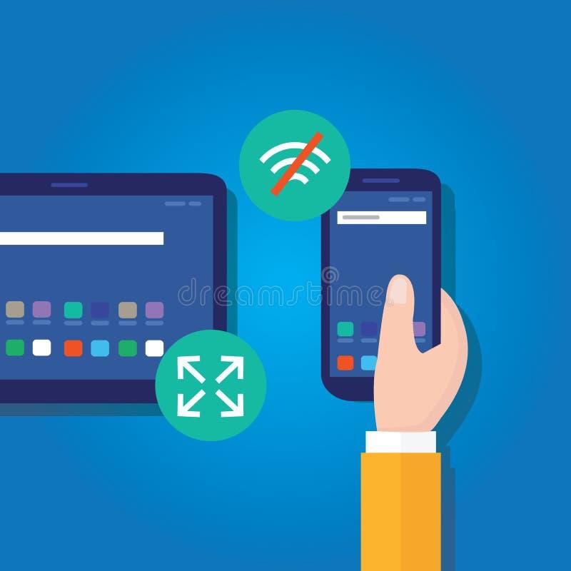 Telefon-Web-Anwendungsentwicklung progressives Netz Apps intelligente lizenzfreie abbildung