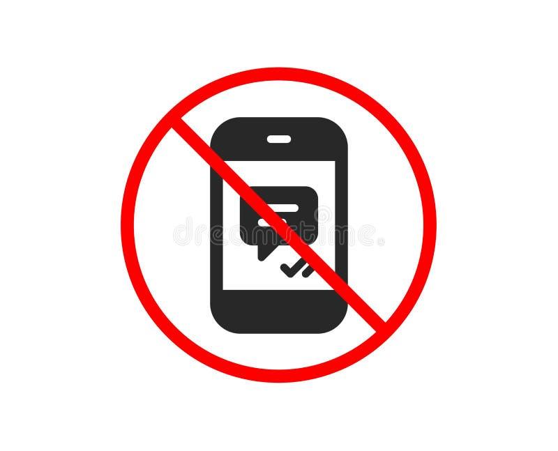 Telefon wiadomości ikona Mobilny gadka znak wektor ilustracja wektor