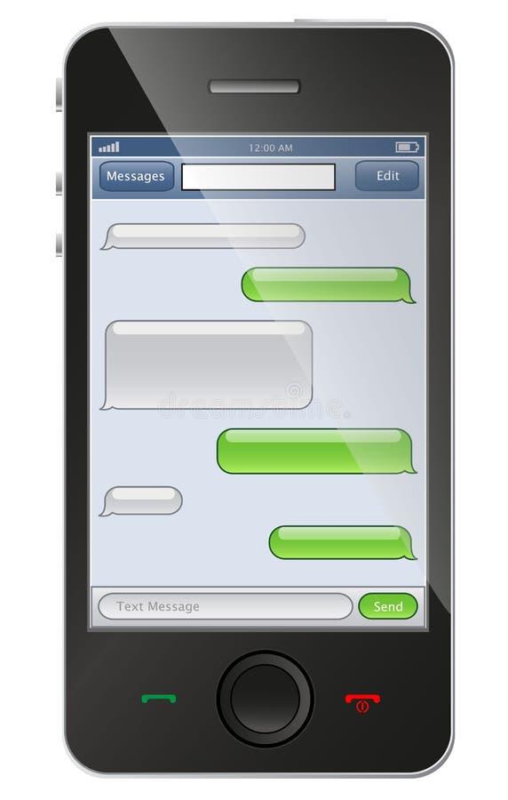 Telefon z gadka szablonem royalty ilustracja