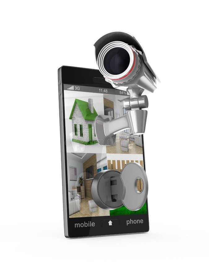 Telefon z kamerą na białym tle ilustracja wektor