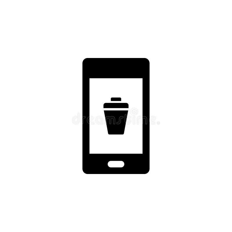Telefon, zakończenie, deleatur wektoru ikona Prosta element ilustracja od UI poj?cia Mobilna poj?cie wektoru ilustracja Telefon,  ilustracji