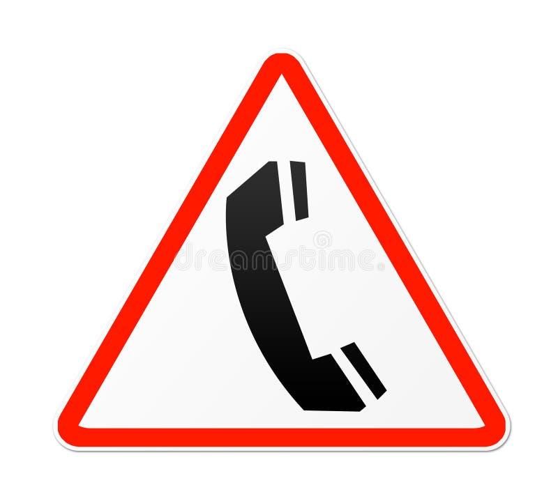 Telefon-Zeichen lizenzfreie abbildung
