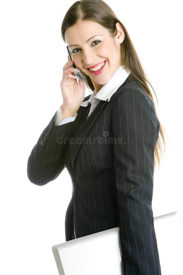 Telefonando a mulher de negócios imagens de stock royalty free