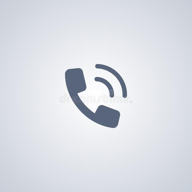 Telefonanruf, vector beste flache Ikone lizenzfreie abbildung