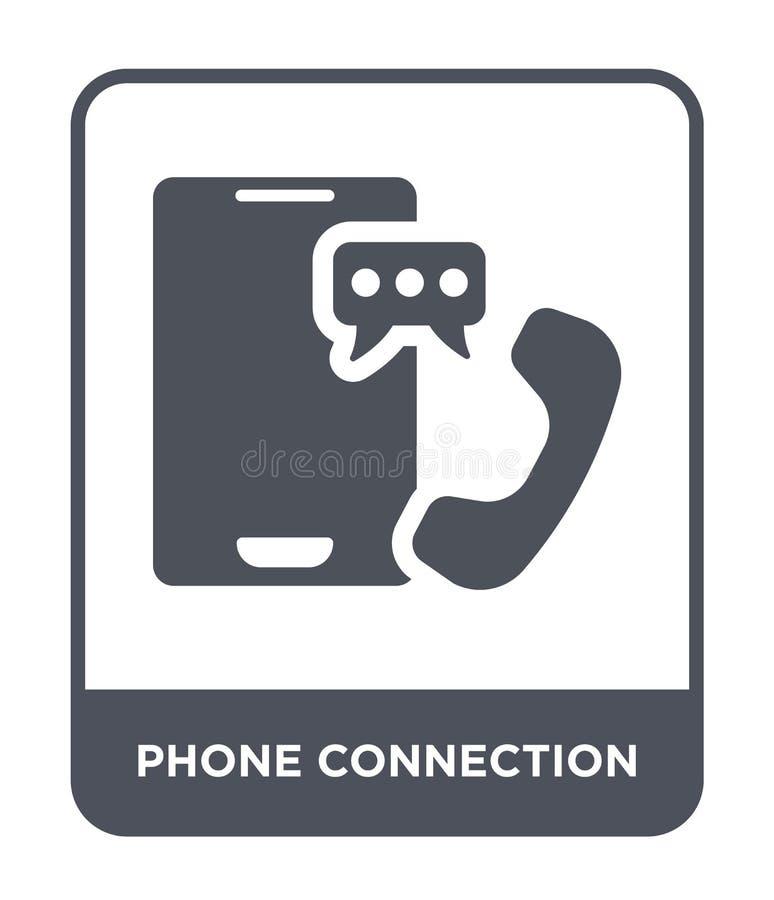 telefonanslutningssymbol i moderiktig designstil telefonanslutningssymbol som isoleras på vit bakgrund symbol för telefonanslutni stock illustrationer