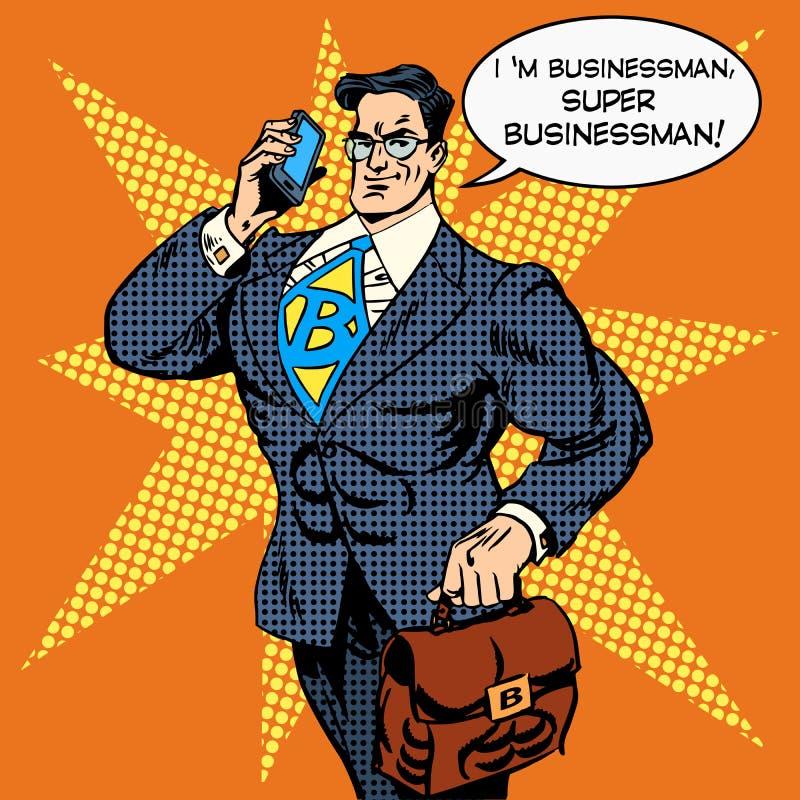 Telefonata di risposta dell'uomo d'affari eccellente royalty illustrazione gratis
