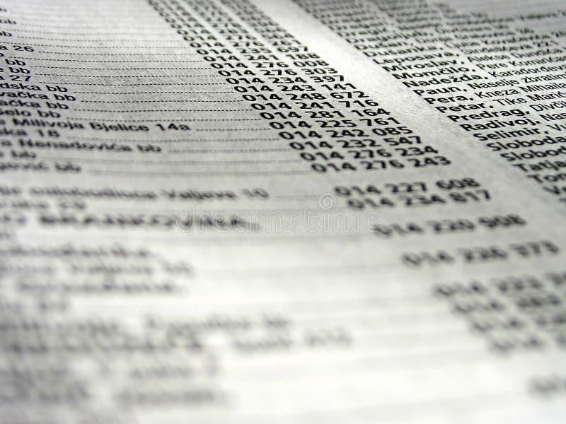 Telefonbuch lizenzfreies stockfoto