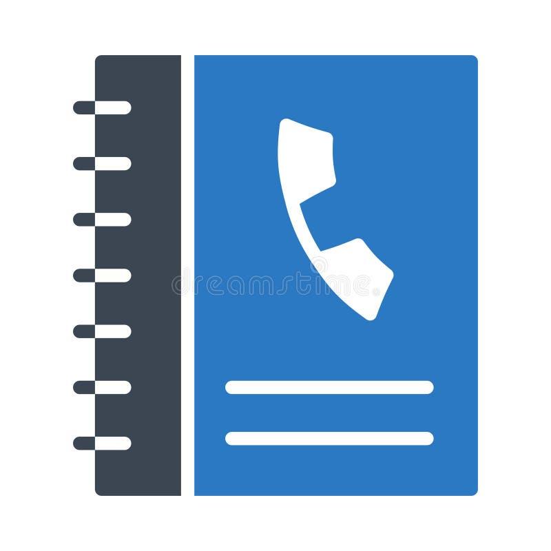 Telefonbuch Glyphfarbvektorikone lizenzfreie abbildung