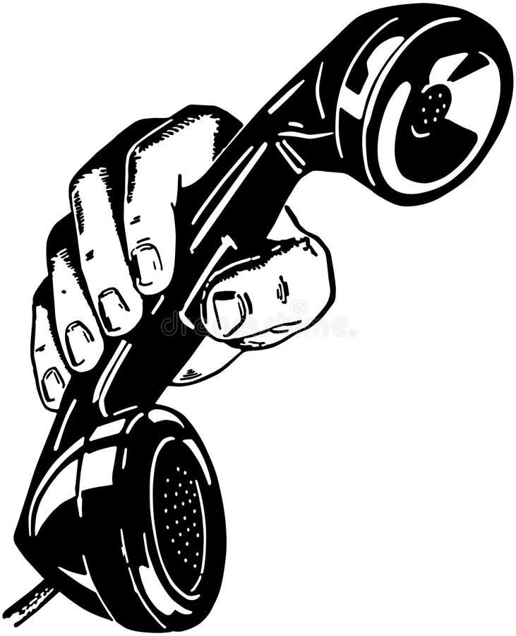 Telefone à disposicão ilustração stock