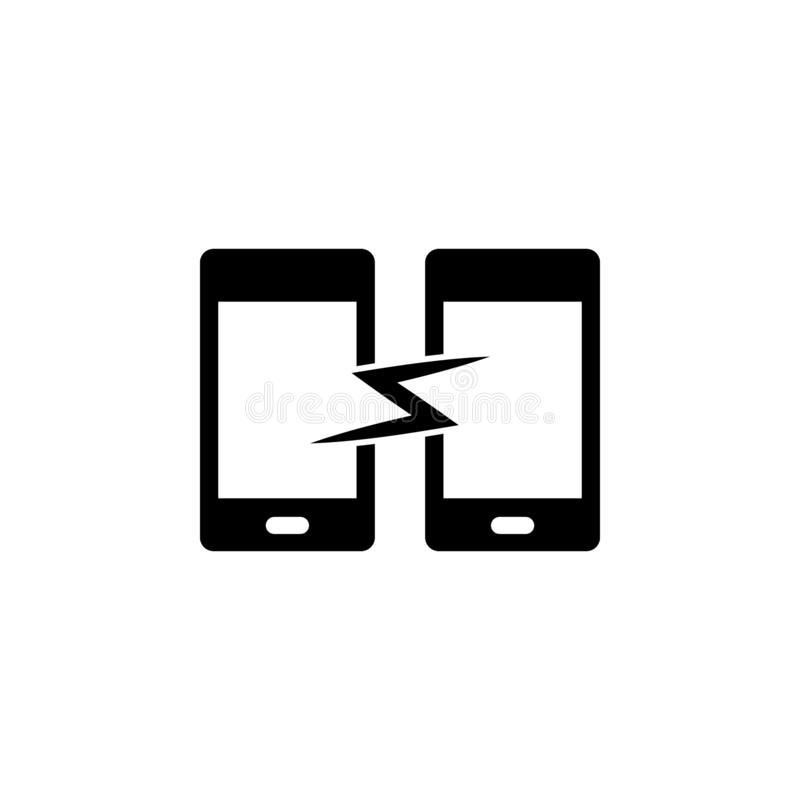 Telefone, ícone do vetor da sincronização Ilustra??o simples do elemento do conceito de UI Ilustra??o m?vel do vetor do conceito  ilustração stock
