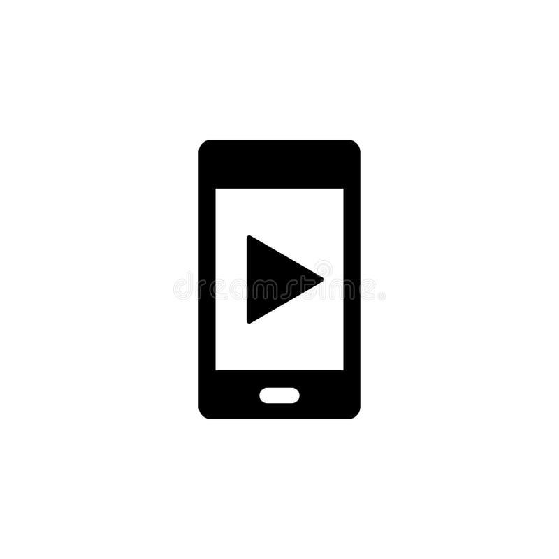 Telefone, ícone do vetor do jogo Ilustra??o simples do elemento do conceito de UI Ilustra??o m?vel do vetor do conceito Telefone, ilustração do vetor