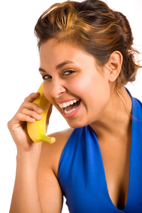 Telefone 2 da banana imagens de stock