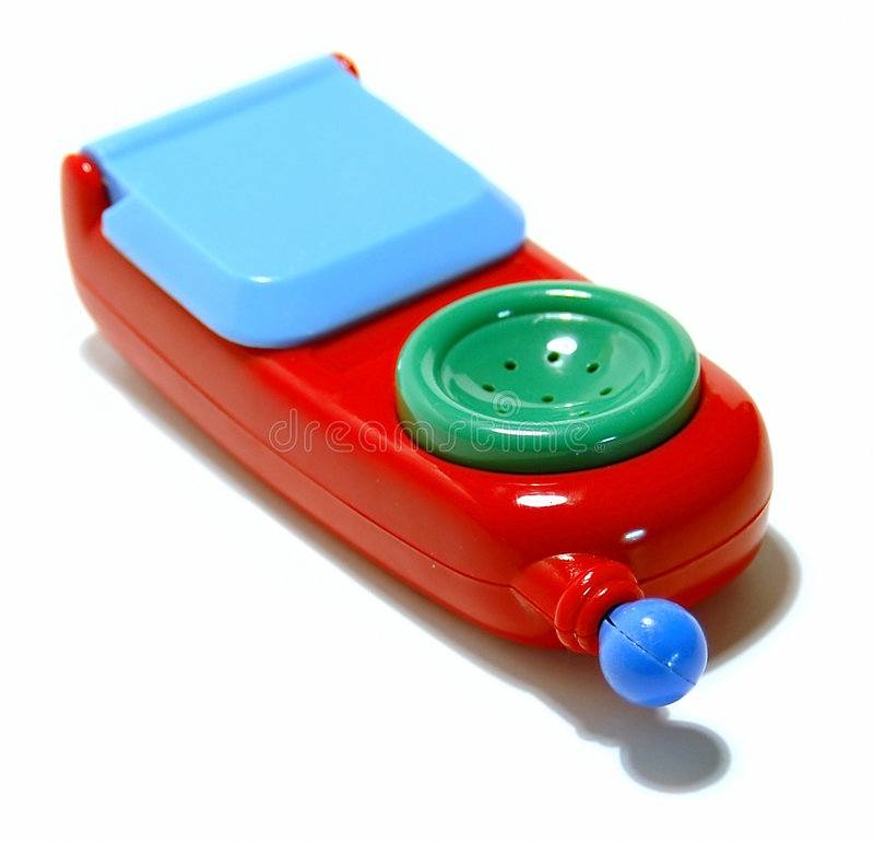 Telefone 2 do brinquedo imagens de stock