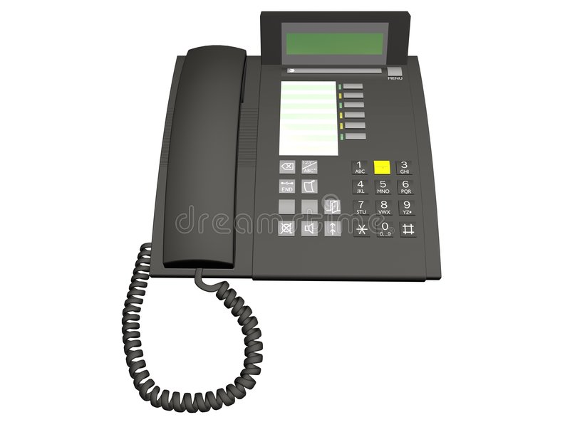 telefone 3D ilustração do vetor