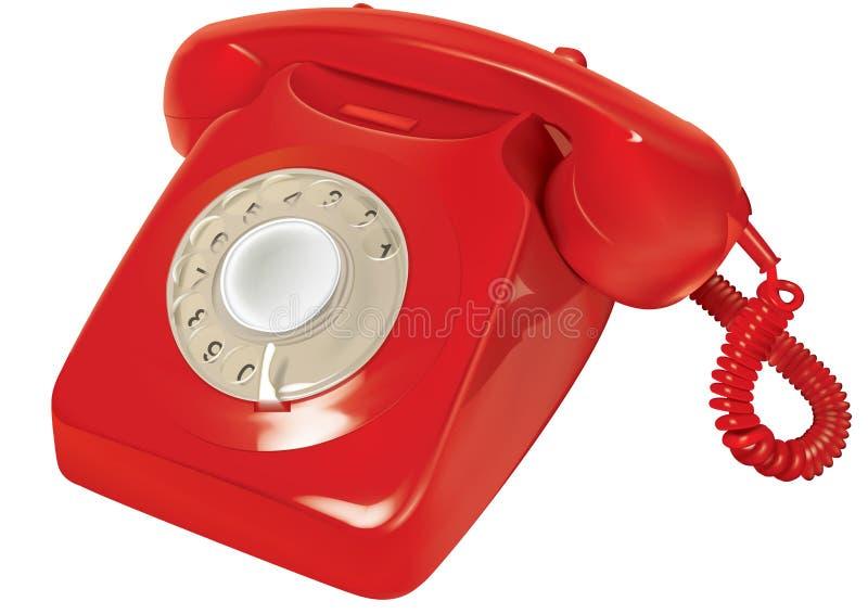 telefone 80s ilustração do vetor