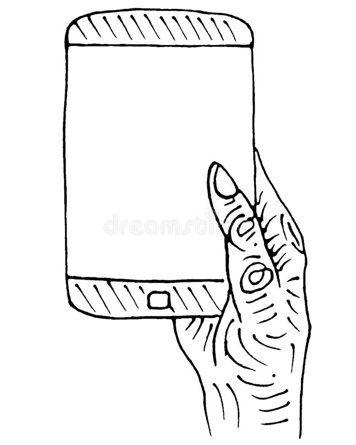 Telefone abstrato para o design web Smartphone m?vel Dispositivo da tecnologia Uma comunicação da tecnologia, projeto ?cone do te ilustração royalty free