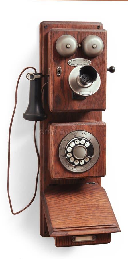 Telefone antigo do seletor giratório no branco imagens de stock royalty free