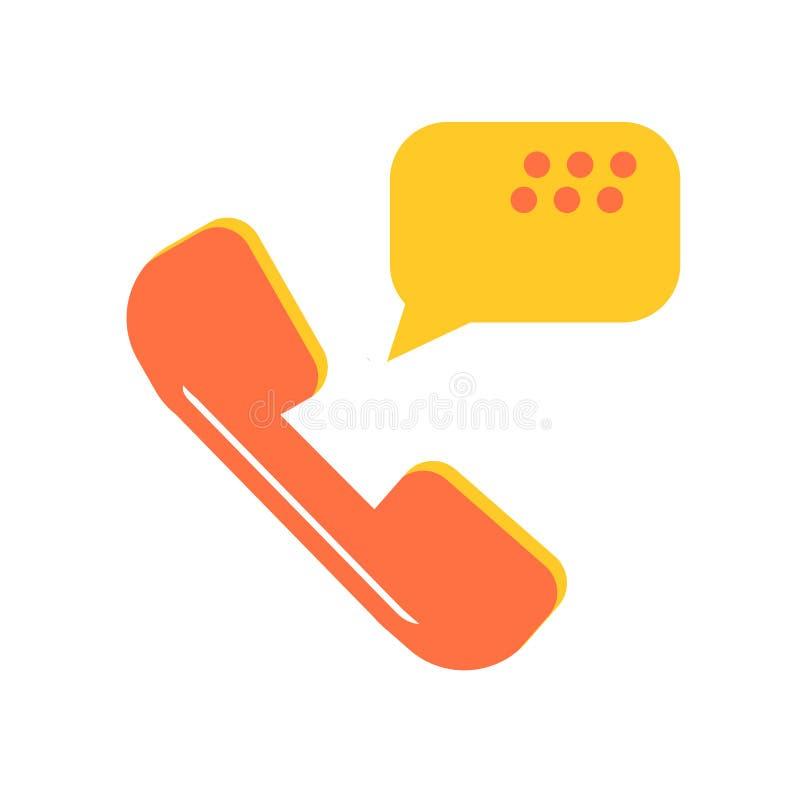 Telefone ao sinal e ao símbolo do vetor do ícone do receptor isolados no CCB branco ilustração stock