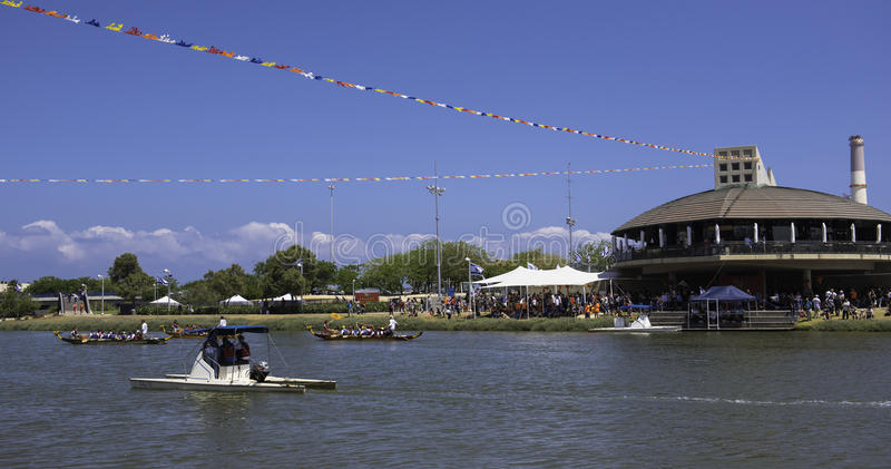 Telefone Aviv Boat Race fotografia de stock