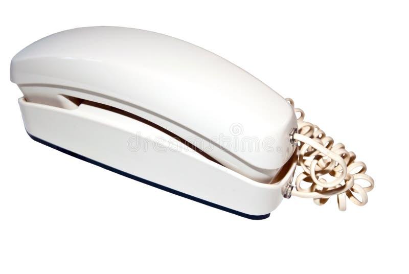 Telefone branco/isolado fotos de stock
