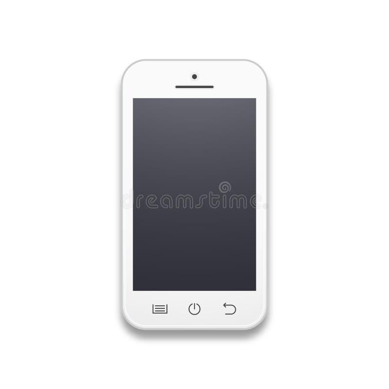 Telefone celular branco ilustração stock