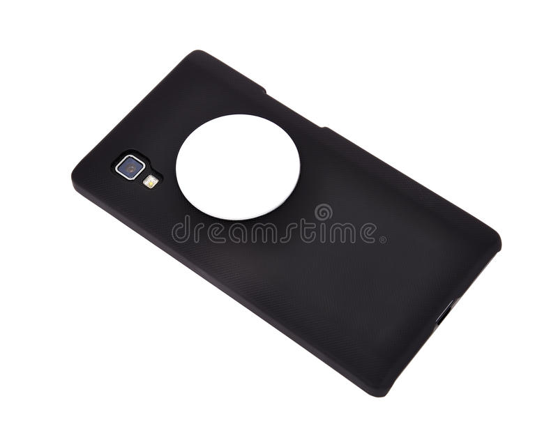 Telefone celular com microplaqueta do rfid foto de stock