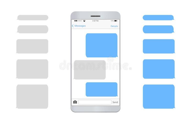 Telefone celular da mensagem de texto vazio ilustração royalty free